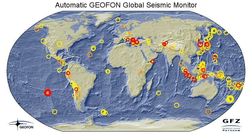 Geofon's global seismic monitor