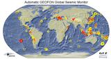 ausgelagertes Foto von Geofon's global seismic monitor
